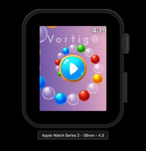Vortigo - Bubble Shooting game on Apple Watch Series 2 38mm