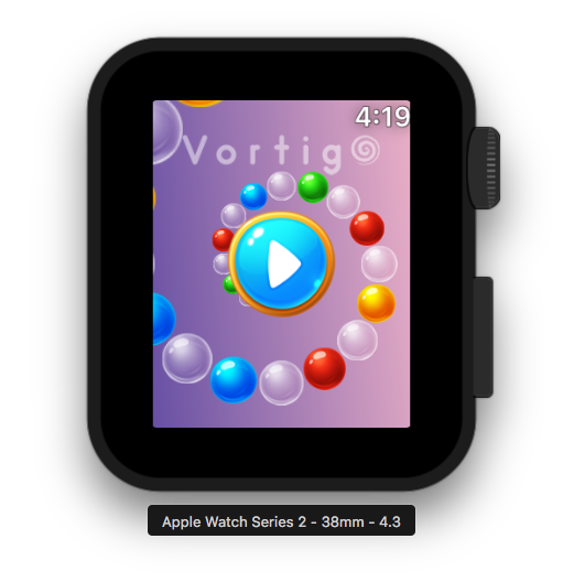 Vortigo - Bubble Shooting game on Apple Watch Series 2 38mm
