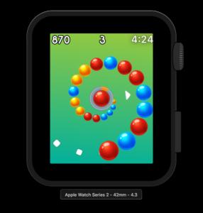 Vortigo - Bubble Shooting game on Apple Watch Series 2 42mm