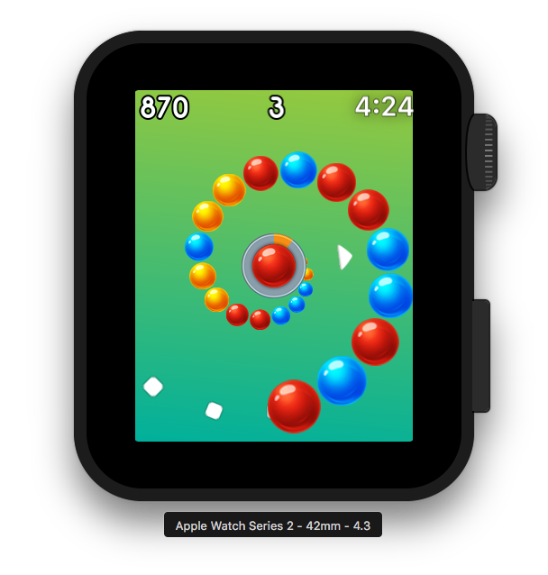 Vortigo - Bubble Shooting game on Apple Watch Series 2 42mm