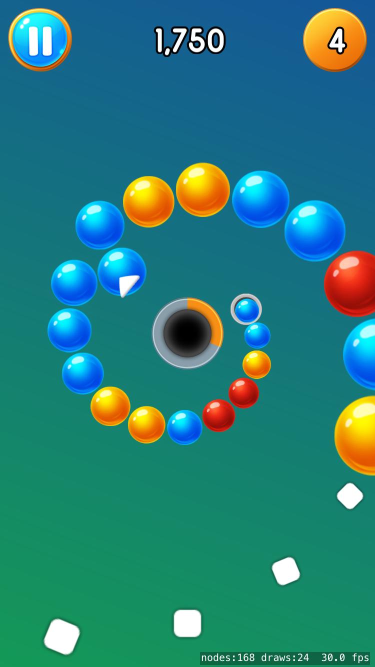 Vortigo - Bubble Shooting game on iPhone 7